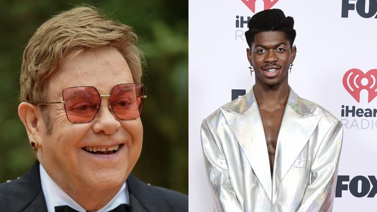 Elton John Borrows Lil Nas X's Cowboy Get-Up For New Uber Eats Campaign