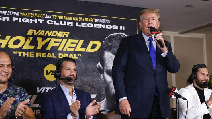 Donald Trump Calls Out Joe Biden For Afghanistan Withdrawal Before Holyfield-Belfort Fight