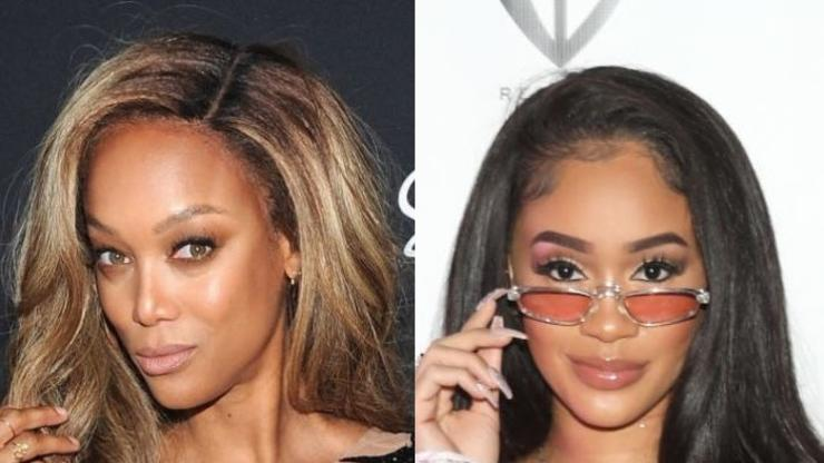 """Tyra Banks Channeled Saweetie's Baby Hairs On """"DWTS"""" & Fans Crack Jokes"""