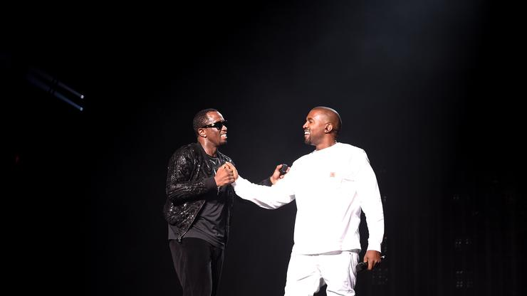 """Kanye West & Diddy Turn Up To """"DONDA"""" With Friends At House Party"""