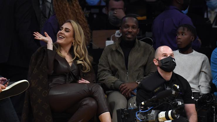 Adele Sits Courtside With Boyfriend Rich Paul For Lakers Opening Night